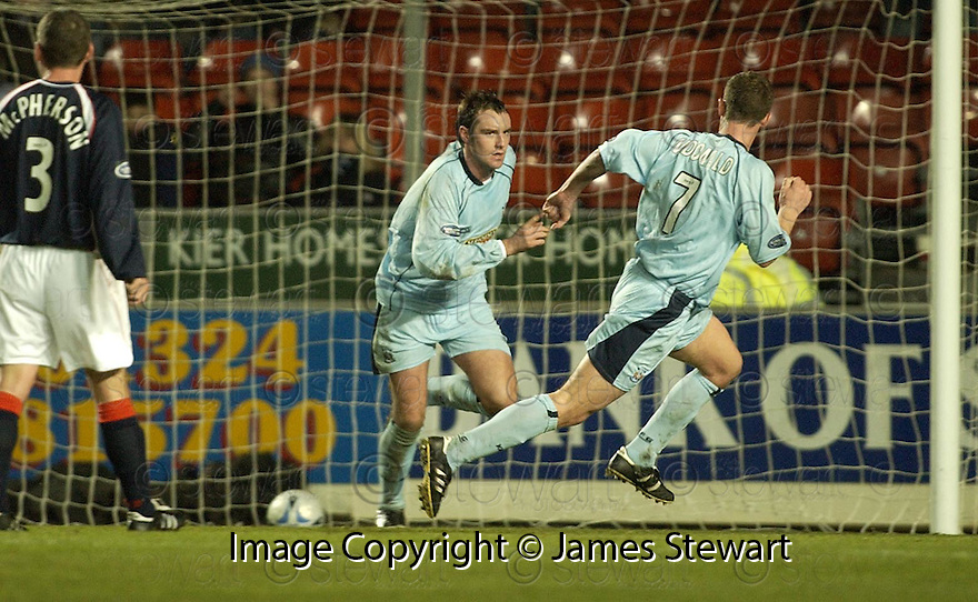 17/12/2005         Copyright Pic: James Stewart.File Name : sct_jspa17 falkirk v kilmarnock.KRIS BOYD CELEBRATES SCORING THE WINNER...... .Payments to :.James Stewart Photo Agency 19 Carronlea Drive, Falkirk. FK2 8DN      Vat Reg No. 607 6932 25.Office     : +44 (0)1324 570906     .Mobile   : +44 (0)7721 416997.Fax         : +44 (0)1324 570906.E-mail  :  jim@jspa.co.uk.If you require further information then contact Jim Stewart on any of the numbers above.........