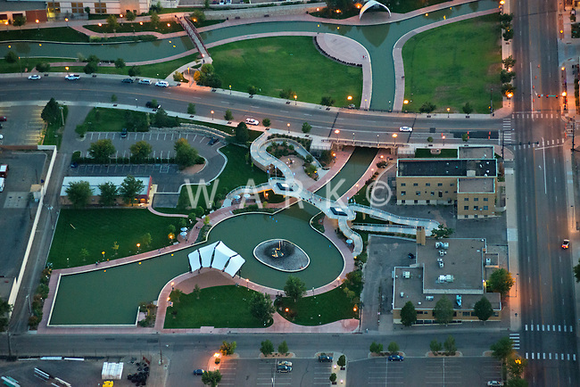 Veteran's Bridge at the Pueblo Riverwalk, Pueblo, Colorado.  Aug 2013