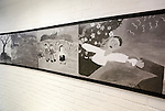 """The House of Sharing for Comfort Women, June 7, 2016 : Paintings by former South Korean comfort women are displayed at the Museum of Sexual Slavery by Japanese Military in the House of Sharing in Gwangju, Gyeonggi province, about 30 km (18 miles) southeast of Seoul, June 7, 2016. The House of Sharing is a shelter for living South Korean """"comfort women"""", who said they were forced to become sexual slavery by Japanese military during the Second World War. It was founded in 1992 with funds organized by Buddhists and other civic groups. The Museum of Sexual Slavery by Japanese Military locates in the shelter. (Photo by Lee Jae-Won/AFLO) (SOUTH KOREA)"""