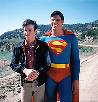 Superman (1978) <br /> Behind the scenes photo of Christopher Reeve &amp; Marc McClure<br /> *Filmstill - Editorial Use Only*<br /> CAP/KFS<br /> Image supplied by Capital Pictures