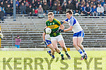 Kerrys Peter Crowley and Shane Carey Monaghan  in Fitzgerald Stadium on Sunday