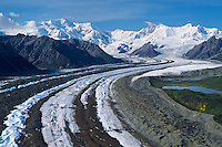 Kennicott Glacier and Mount Blackburn in Wrangell-St. Elias National Park, Alaska.