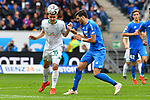 11.05.2019, PreZero Dual Arena, Sinsheim, GER, 1. FBL, TSG 1899 Hoffenheim vs. SV Werder Bremen, <br /> <br /> DFL REGULATIONS PROHIBIT ANY USE OF PHOTOGRAPHS AS IMAGE SEQUENCES AND/OR QUASI-VIDEO.<br /> <br /> im Bild: Maximilian Eggestein (#35, SV Werder Bremen) gegen Florian Grillitsch (TSG 1899 Hoffenheim #11)<br /> <br /> Foto &copy; nordphoto / Fabisch