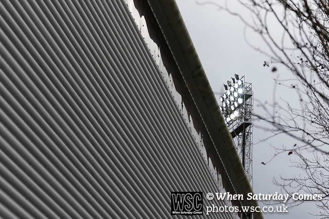 Wrexham 2 Ebbsfleet United 0, 18/11/2017. The Racecourse Ground, National League. A floodlight at the University End. Photo by Paul Thompson.
