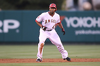 06/08/11 Anaheim, CA: Los Angeles Angels second baseman Howard Kendrick #47 during an MLB game between the Tampa Bay Rays and The Los Angeles Angels  played at Angel Stadium. The Rays defeated the Angels 4-3 in 10 innings