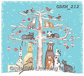 Kate, CHRISTMAS ANIMALS, WEIHNACHTEN TIERE, NAVIDAD ANIMALES, paintings+++++Christmas page 79,GBKM212,#xa#