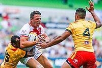 Sam Burgess during the England Vs Papua New Guinea 2017 Rugby League World Cup Quarter Final match at the Melbourne Rectangular Stadium, Melbourne Australia. Sunday 19 November 2017. Copyright Photo Brendon Ratnayake / www.photosport.nz MANDATORY CREDIT/BYLINE : Brendon Ratnayake/SWpix.com/PhotosportNZ