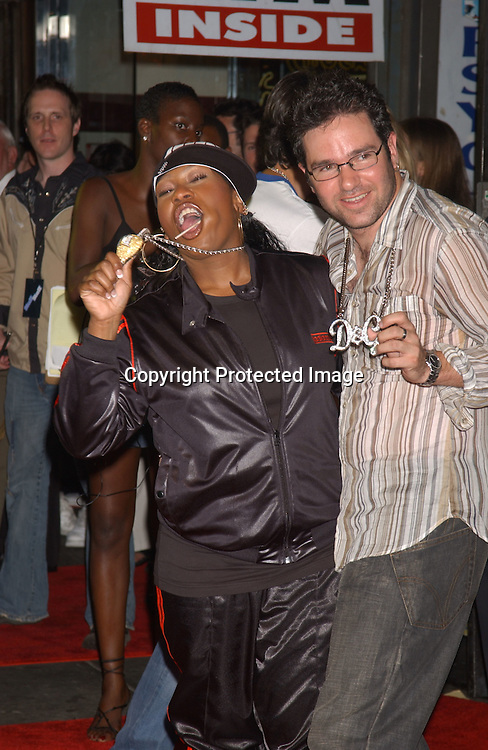 Missy Elliott and Dave Meyers ..at the Stuff Magazine's Pre-VMA Party on August 27,2003 ..at Show Nightclub. Photo by Robin Platzer, Twin Images