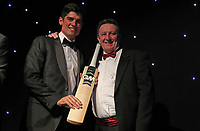 Alistair Cook collects the batsman of the year award during the Essex CCC 2017 Awards Evening at The Cloudfm County Ground on 5th October 2017