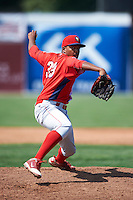 Williamsport Crosscutters pitcher Andre Kinder #39 during a NY-Penn League game against the Batavia Muckdogs at Dwyer Stadium on August 26, 2012 in Batavia, New York.  Batavia defeated Williamsport 7-1.  (Mike Janes/Four Seam Images)