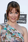 """Actress Jamie King arrives at the 2008 Los Angeles Film Festival's """"HellBoy: II The Golden Army"""" Premiere at the Mann Village Westwood Theater on June 28, 2008 in Westwood, California."""