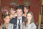 Daithi O'Se pictured with Jennifer Licup, Breda Moran, Caoimhe Clifton and Maggie O'Connor at the Miss Christmas in Killarney final in the Killarney Avenue on Friday night...   Copyright Kerry's Eye 2008