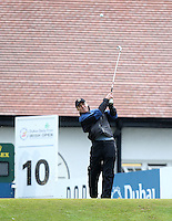 27 May 2015; James Nesbitt tees up at the 10th<br /> <br /> Dubai Duty Free Irish Open Golf Championship 2015, Pro-Am. Royal County Down Golf Club, Co. Down. Picture credit: John Dickson / DICKSONDIGITAL