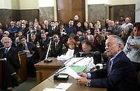 Cesare Previti, durante il processo SME. Milano, 21 novembre 2003...<br /> Cesare Previti, during the  SME trial. Milan, November 21, 2003.