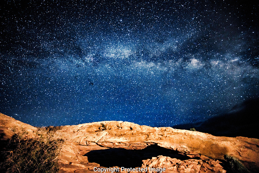 Milky Way and Mesa Arch,  Canyonlands National Park, Utah, Island in the Sky