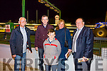 Cllr Sam Locke, Eugene Owens, Jack Owens and Mary Cullotty and Kerry South TD Tom Fleming at the Brosna GAA Night At Dogs fundraiser in the  Kingdom Greyhound Stadium on Saturday night.