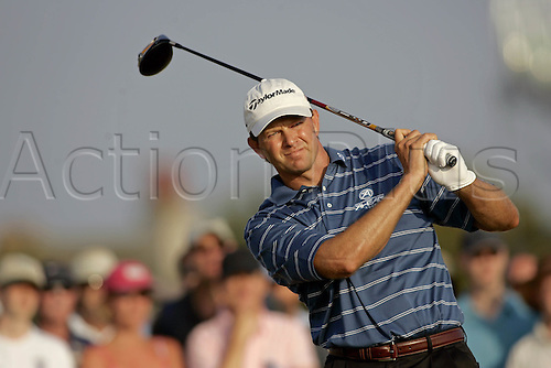 20 July 2006: South African golfer Retief Goosen (RSA) watches his drive from the 17th Tee during the first round of The Open Championship 2006, Royal Liverpool Golf Club, Hoylake, England. Photo: Glyn Kirk/Actionplus....060720 man men male .
