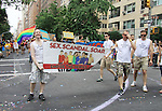 Empire The Series, the Internet's Hottest Soap Opera Returns This Summer 2012 for its 4th season - Sex.Scandal.Soap. - Kevin of We  Love Soaps, and Nick Lewis, director Fritz Bekeller -  members of Empire The Series march in the NYC Gay Pride Parade 2012 on June 24, 2012 marches from Fifth Avenue and 38 to the Village, New York City, New York. Ceck them out at Empiretheseries.com (Photo by Sue Coflin/Max Photos)