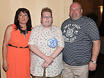 Karl Rooney celebrating his 21st birthday in the Westcourt hotel with parents Jason and Geraldine. Photo:Colin Bell/pressphotos.ie