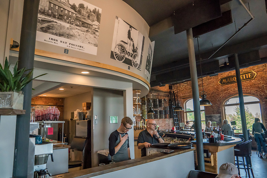 Iron Bay Restaurant in downtown Marquette, Michigan.