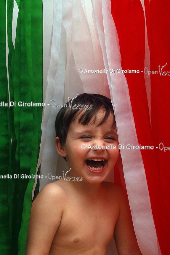 Tricolore.The Italian tricolour...