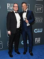 12 January 2020 - Santa Monica, California - Michael Shoemaker, Seth Meyers. 25th Annual Critici's Choice Awards - Press Room held at Barker Hangar. Photo Credit: Birdie Thompson/AdMedia