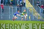 Thomas Hickey (Kerry) get a tug from Padraig O'Meara(Tipperary) in the Munster GAA - ESB Minor Football Championship Quarter Final in Austin Stack, Park, Tralee on Wednesday evening.................................. ....