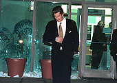 John F. Kennedy, Jr. leaves Montgomery County Detention Center in Rockville, Maryland following his surprise, one hour visit with Mike Tyson on March 11, 1999.<br /> Credit: Ron Sachs / CNP