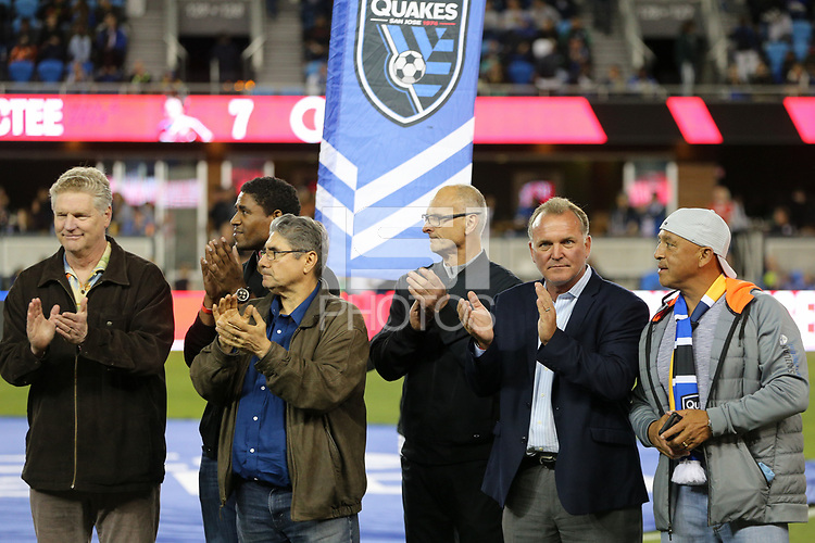 San Jose, CA - Saturday May 05, 2018: Former San Jose Earthquakes  during a Major League Soccer (MLS) match between the San Jose Earthquakes and the Portland Timbers at Avaya Stadium.
