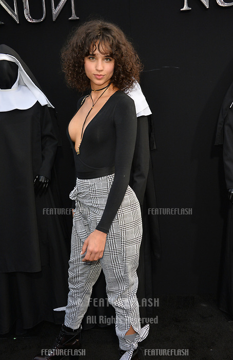 "LOS ANGELES, CA. September 04, 2018: Lulu de Freitas at the world premiere of ""The Nun"" at the TCL Chinese Theatre, Hollywood."