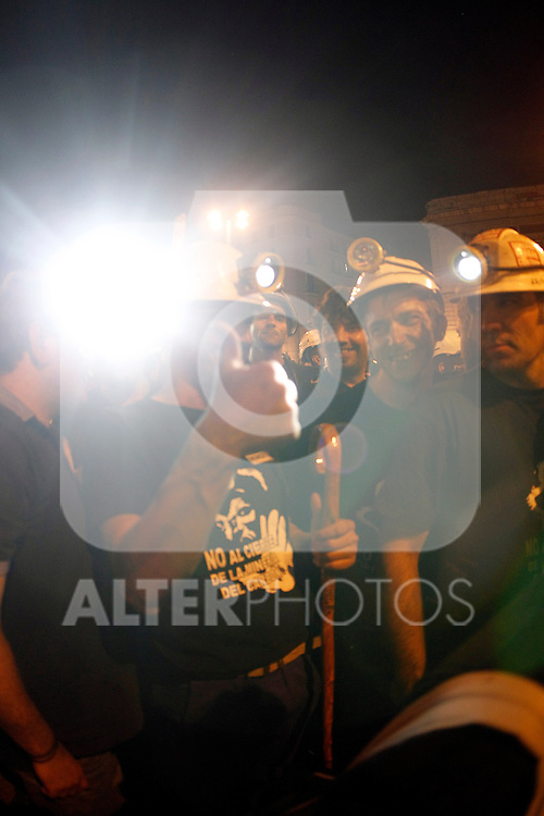 Miner´s black march arrives at gates of Madrid, July 11,2012.(ALTERPHOTOS/ARNEDO)