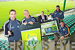 Pictured at the launch of the new Kerry GAA Website and iPhone app were Senior Kerry Footballers Marc O'Shea and Barry John Keane Weeshie Lynch, Ger Galvin and Kerry County Board Chairman Patrick O'Sullivan.