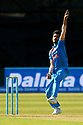 India's Yvzvendra Chahal bowls during a T20 match between Ireland and India at the Malahide cricket club in Dublin on June 27, 2018. Photo/Paul McErlane