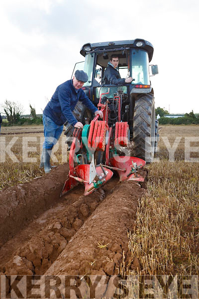 Tony O'Carroll and Thomas O'Carroll, Causeway at the Ballyheigue's ploughing match at  the Rectory field, Buncurrig on Sunday