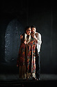 """English Touring Opera presents """"Don Giovanni"""", by Wolfgang Amadeus Mozart, at the Hackney Empire.  Directed by Lloyd Wood, with set & costume design by Anna Fleischle and lighting design by Guy Hoare. Picture shows:  Camilla Roberts (Donna Anna), Robyn Lyn Evans (Don Ottavio)."""