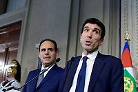Roma, 12 Aprile 2018<br /> Partito Democratico<br /> Andrea Marcucci, Maurizio Martina.