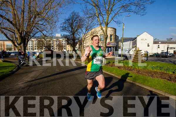Sean O'Sullivan, pictured at the finish line at the Kerry's Eye Valentines Weekend 10 mile road race on Sunday.