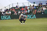 Justin Rose (ENG) on the 8th green during Friday's Round 2 of the 118th U.S. Open Championship 2018, held at Shinnecock Hills Club, Southampton, New Jersey, USA. 15th June 2018.<br /> Picture: Eoin Clarke | Golffile<br /> <br /> <br /> All photos usage must carry mandatory copyright credit (&copy; Golffile | Eoin Clarke)