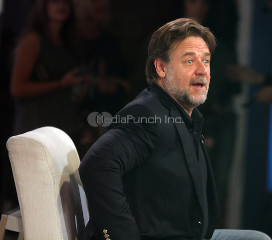 NEW YORK, NY-May 13: Russell Crowe at Good Morning America to talk his new movie The Nice Guys in New York. NY May 13, 2016. Credit:RW/MediaPunch