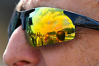 A view of the racecourse via a racegoers sunglasses during Afternoon Racing at Salisbury Racecourse on 16th May 2019