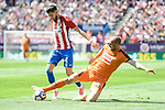 Atletico de Madrid's Yannick Carrasco and SD Eibar's Ivan Ramis Barrios during Liga Liga match between Atletico de Madrid and SD Eibar at Vicente Calderon Stadium in Madrid, May 06, 2017. Spain.<br /> (ALTERPHOTOS/BorjaB.Hojas)