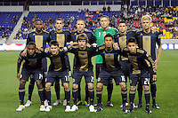 Philadelphia Union starting eleven. The New York Red Bulls defeated the Philadelphia Union 2-1 during a US Open Cup qualifier at Red Bull Arena in Harrison, NJ, on April 27, 2010.