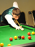 Dylan Moore playing in the Irish Pool Association Tour in the Boyne Valley hotel. Photo: Colin Bell/pressphotos.ie