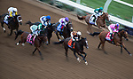 DEL MAR, CA - NOVEMBER 03: The pack of the Longines Breeders\'92 Cup Distaff break out of the gates on Day 1 of the 2017 Breeders' Cup World Championships at Del Mar Thoroughbred Club on November 3, 2017 in Del Mar, California. (Photo by Ting Shen/Eclipse Sportswire/Breeders Cup)