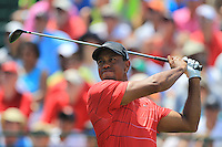 Tiger Woods (USA) tees off the 1st tee to start his match Sunday's Final Round of the 94th PGA Golf Championship at The Ocean Course, Kiawah Island, South Carolina, USA 11th August 2012 (Photo Eoin Clarke/www.golffile.ie)