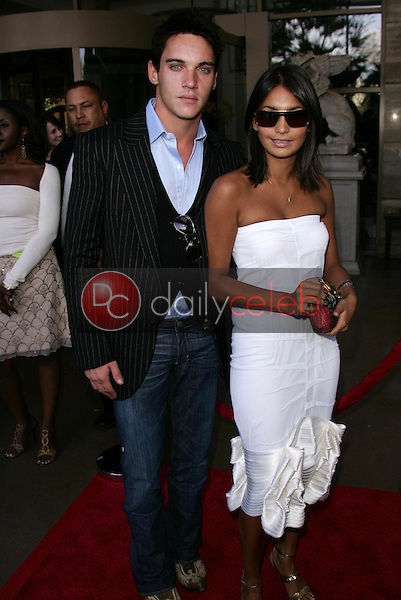 Jonathan Rhys Meyers and friend<br /> At the 3rd Annual BAFTA LA and Academy of Television Arts and Sciences Emmy Nominee's Tea Party, Park Hyatt Hotel, Century City, CA 09-17-05<br /> David Edwards/DailyCeleb.Com 818-249-4998