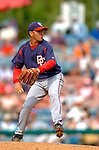 19 March 2006: Saul Rivera, pitcher for the Washington Nationals, on the mound during a Spring Training game against the Los Angeles Dodgers at Holeman Stadium, in Vero Beach, Florida. The Dodgers defeated the Nationals 9-1 in Grapefruit League play...Mandatory Photo Credit: Ed Wolfstein Photo..