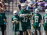 Rob Hudson (#37) looks to penetrate the Albany defense as UAlbany Lacrosse defeats Vermont 14-4  in the American East Conference Championship game at Casey Stadium, May 5.