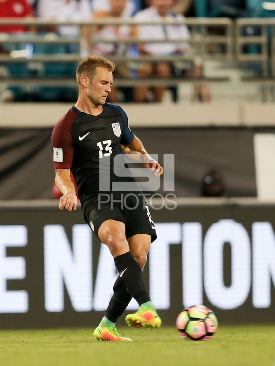 Jacksonville, FL - September 6, 2016: The U.S. Men's National team go up 4-0 over Trinidad & Tobago during a World Cup Qualifier (WCQ) match at EverBank Field.