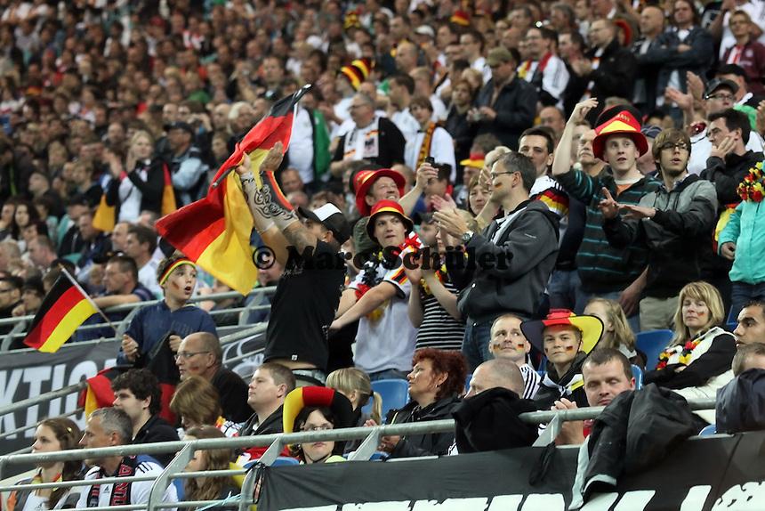 Jubel der Deutschen Fans